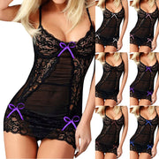 Women Sexy Bow Lace Lingerie Erotic Racy Underwear