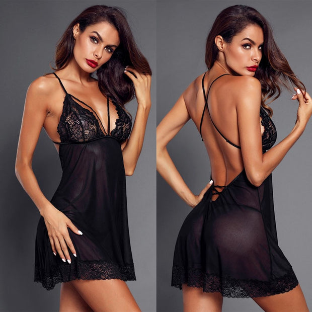 Women's Sexy Porn Lace Dress Lingerie Exotic