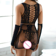 Lady Sexy Lingerie Fishnet Sheer Body