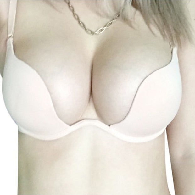Sexy Deep U Low Cut Push Up Women Lingerie U Bra