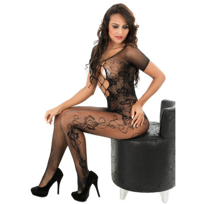 Sexy Women Bodysuit Sleepwear Crotchless