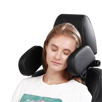 Leather Adjustable Car Head Rest