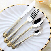 Vintage Gold-Plated Stainless-Steel Dinner Set