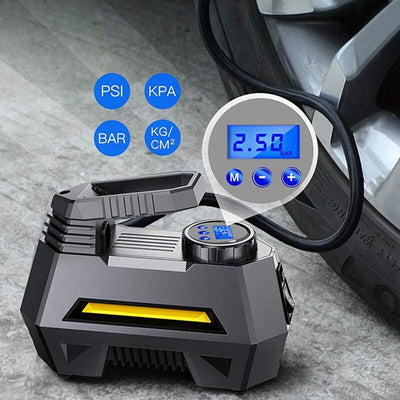 Portable Air Compressor Pump with LCD Display
