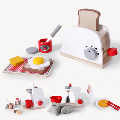 Learn To Cook Wooden Kitchen Toy Set