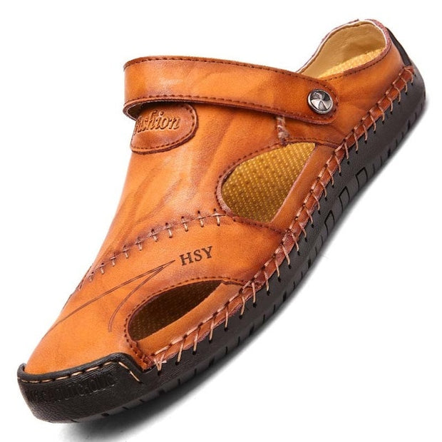 Classic Men's Leather Summer Sandals