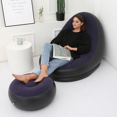 Inflatable Lounger with Ottoman