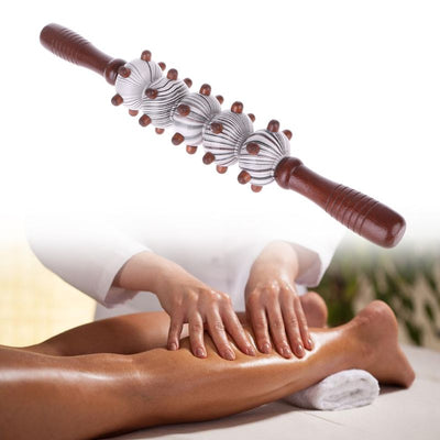 2Pcs Wooden Massage Roller