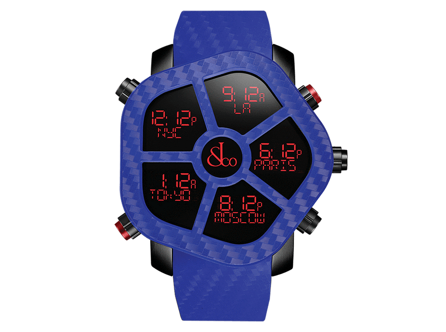 Jacob And Co Five Time Zone Ghost Blue Carbon 47MM