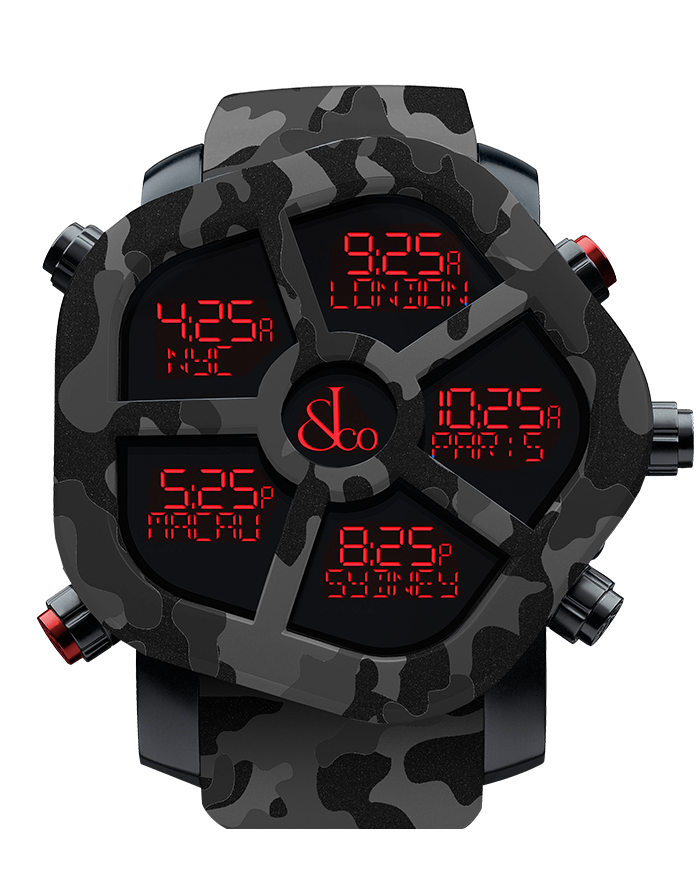 Jacob And Co Five Time Zone Ghost Black Camouflage Carbon 47MM