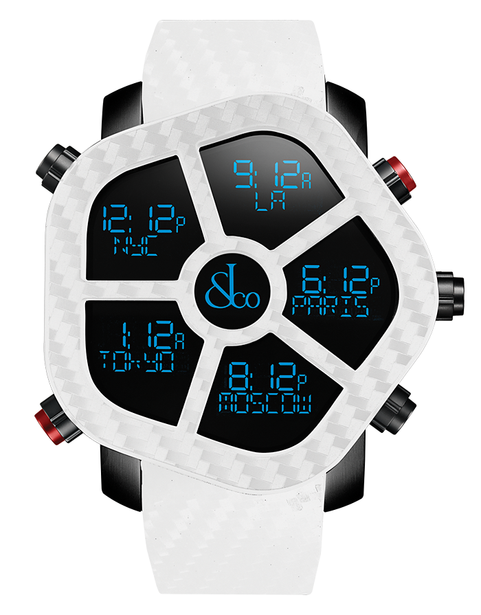 Jacob And Co Five Time Zone Ghost White Carbon 47MM