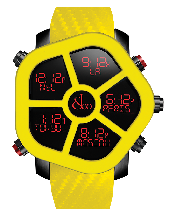 Jacob And Co Five Time Zone Ghost Yellow Carbon 47MM