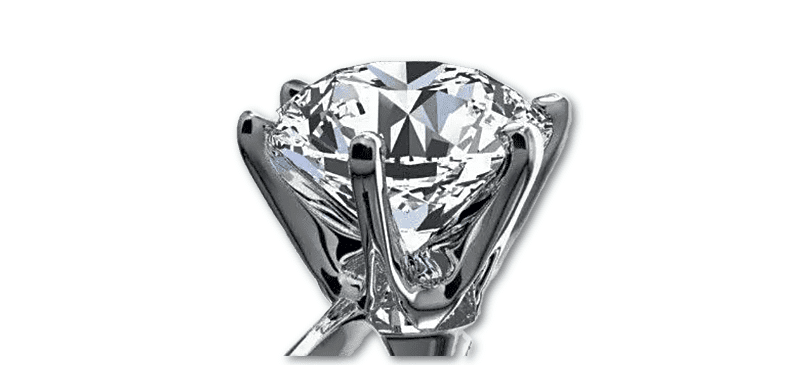 14ct White Gold Single Solitaire 0.75ct