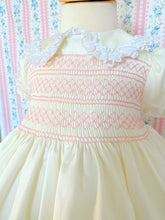 Load image into Gallery viewer, Classic cream smocked dress
