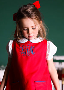 Monogram Apron Dress