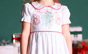 Mistletoe Embroidered Dress