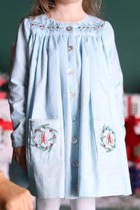 Holly Embroidered Smock Dress
