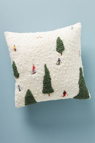 Hit the Slopes Pillow by Anthropologie