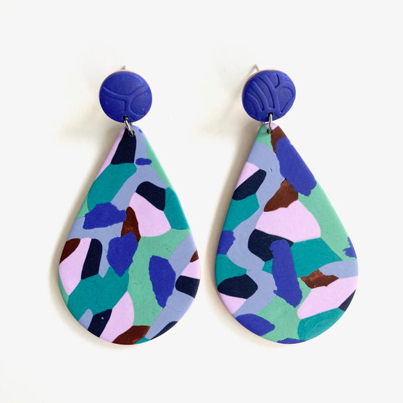 Earrings Jolene blue