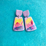 Anne earrings lilac impasto