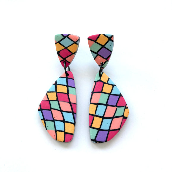 Stained Glass earrings Phoebe