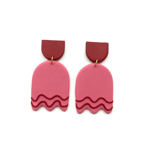 Cool wave earrings