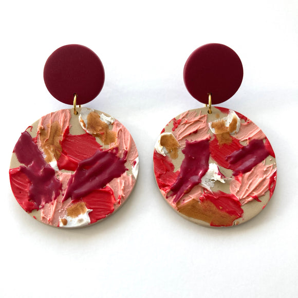 Earrings painting