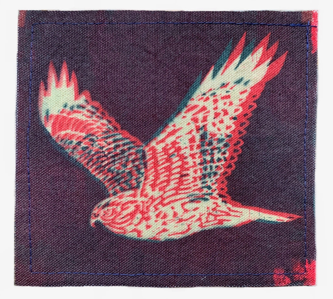 Green Magenta Hawk Sun Patch