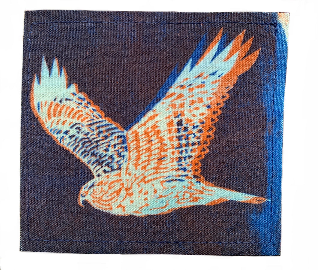 Orange Blue Hawk Sun Patch