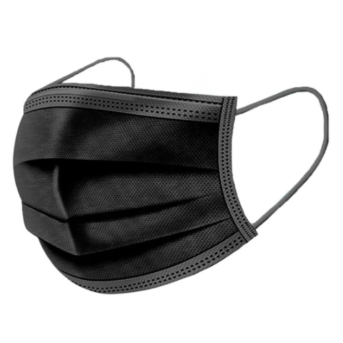 3 Ply Masks (Black) (50 Pack)