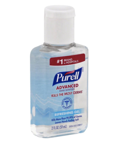 Purell Hand Sanitizer, Refreshing Gel (2 fl Oz)