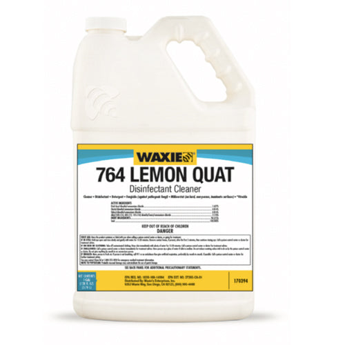 WAXIE 764 Lemon Quat Disinfectant Cleaner (1 Gallon)