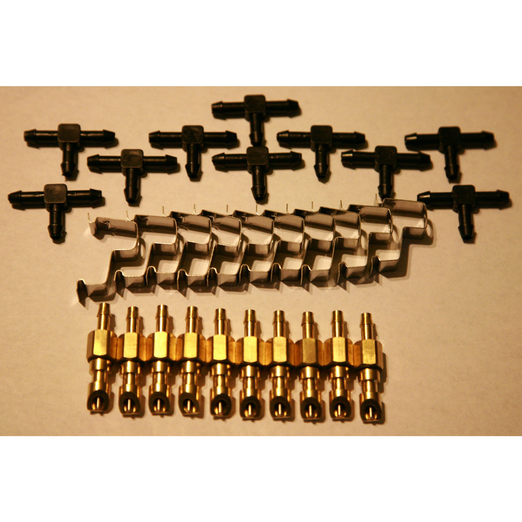 "10 sets of 3/16"" Brass Rodent & Rabbit Nipples"
