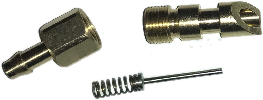 "Solid Brass Rabbit & Rodent Nipple with 3/16"" barb & internal spring  (SE6)"