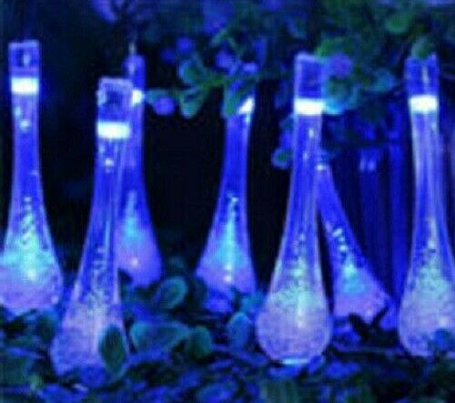 Tear drops solar string lights multi-functions