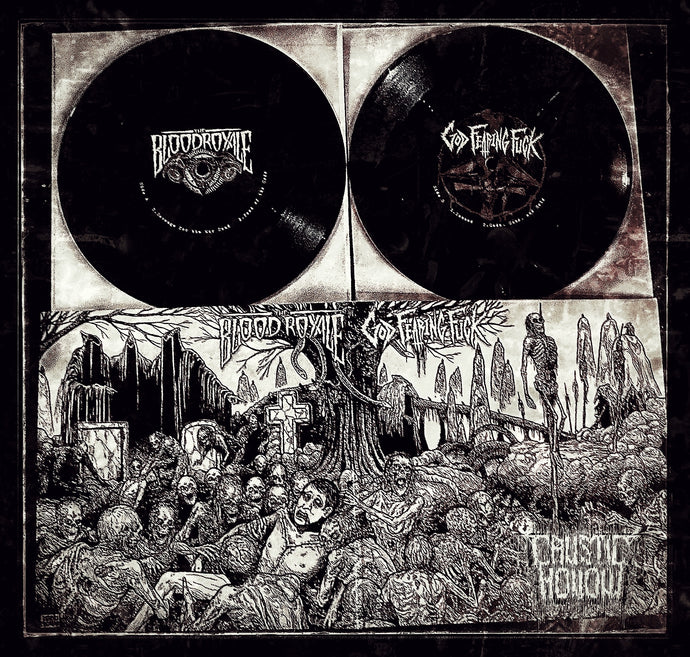 "The Blood Royale/God Fearing Fucking Split 7"" Vinyl"