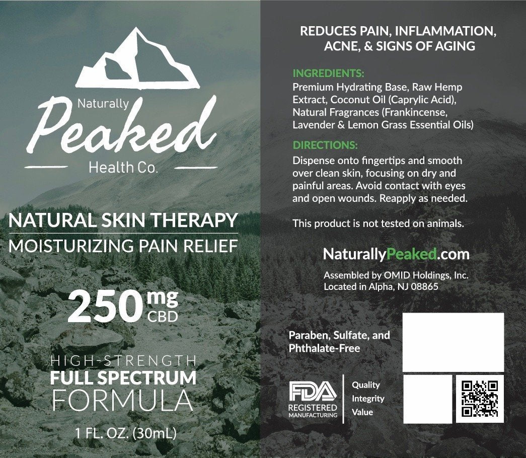 Naturally Peaked - Moisturizing Pain Relief CBD Infused Lotion
