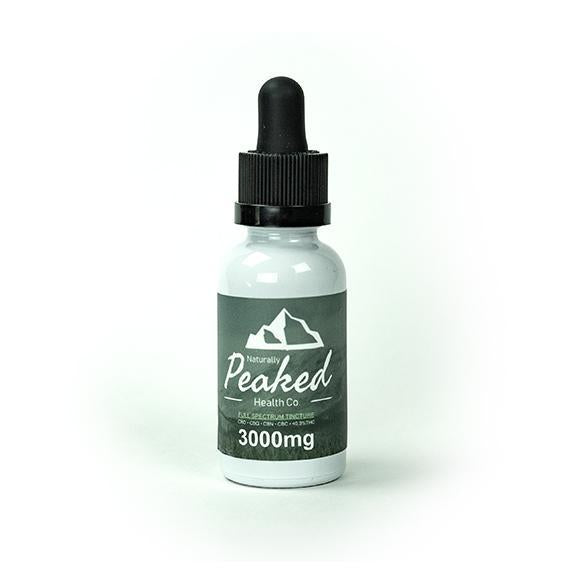 Naturally Peaked - 3000MG Full Spectrum Organic CBD Tincture