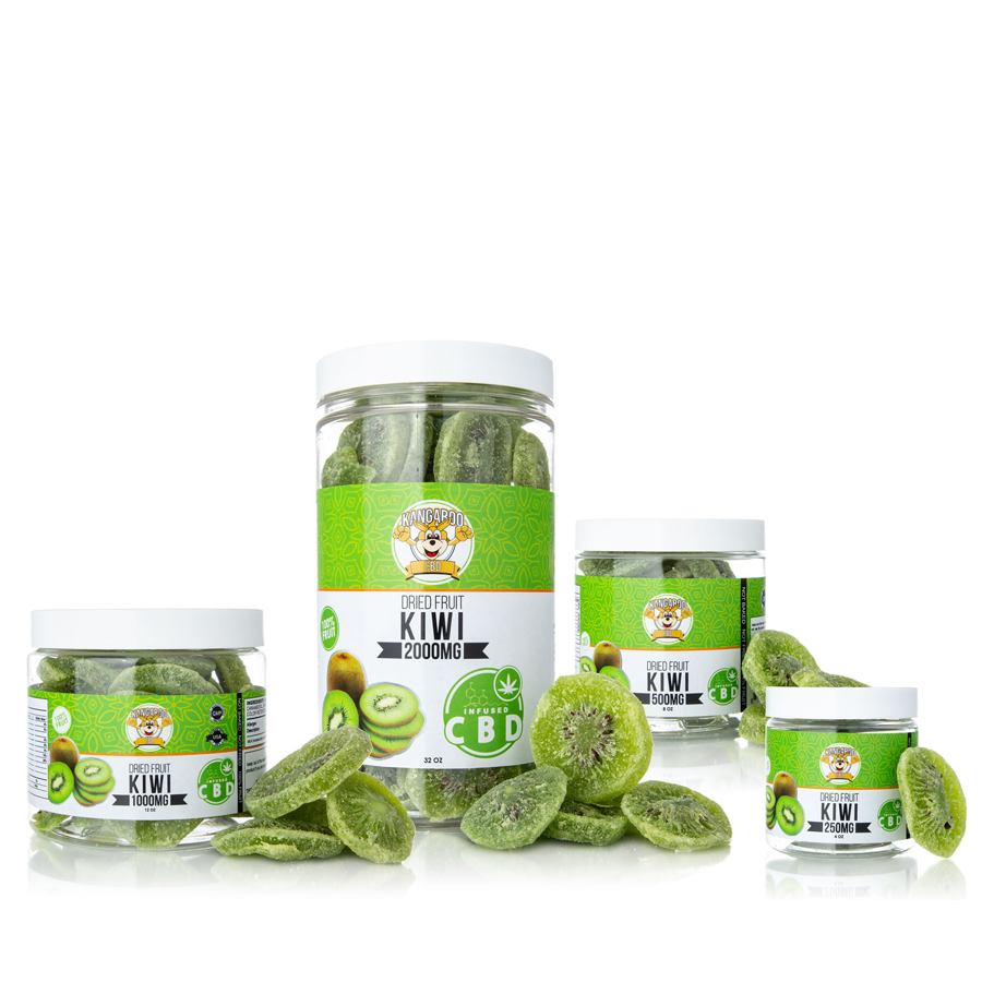 Kangaroo CBD Infused Dried Kiwi Fruit