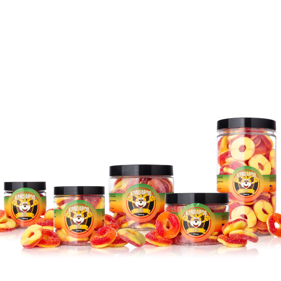 Kangaroo CBD Infused Peach Gummy Rings