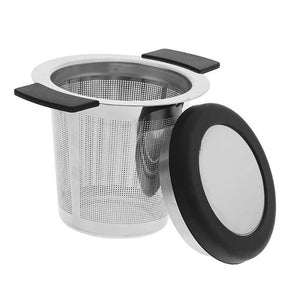 Stainless Steel Reusable Tea Infuser Basket Fine Mesh Tea Strainer With Handles Lid Tea and Coffee Filters for Loose Tea Leaf