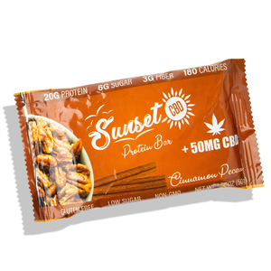 Sunset CBD Infused Protein Bars 50MG