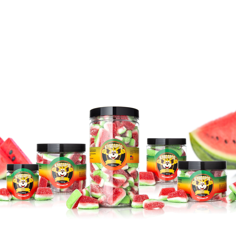 Kangaroo CBD Infused Watermelon Gummy Slices
