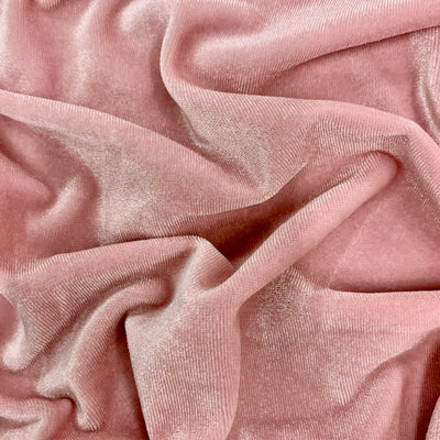 Princess BABY PINK Polyester Stretch Velvet Fabric for Bows, Top Knots, Head Wraps, Scrunchies, Clothes, Costumes, Crafts