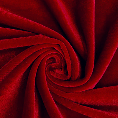 Princess RED Polyester Stretch Velvet Fabric for Bows, Top Knots, Head Wraps, Scrunchies, Clothes, Costumes, Crafts