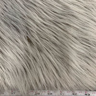 Eden LIGHT GREY Shaggy Long Pile Soft Faux Fur Fabric for Fursuit, Cosplay Costume, Photo Prop, Trim, Throw Pillow, Crafts