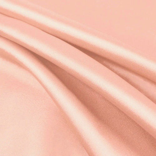 Payton BLUSH PEACH Faux Silk Stretch Charmeuse Satin Fabric by the Yard