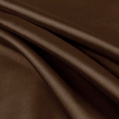 Payton DARK BROWN Faux Silk Stretch Charmeuse Satin Fabric by the Yard