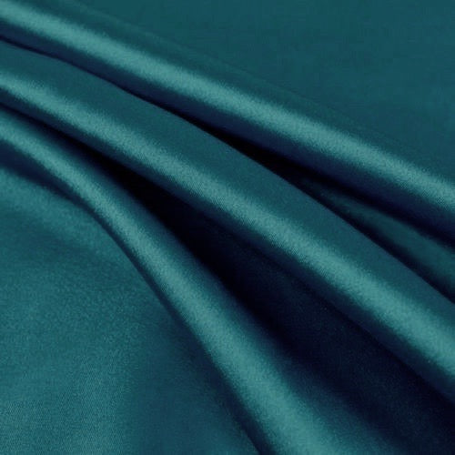 Payton DARK TURQUOISE Faux Silk Stretch Charmeuse Satin Fabric by the Yard