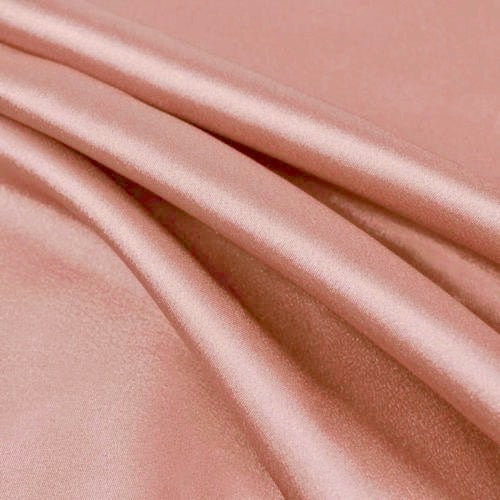 Payton DUSTY ROSE Faux Silk Stretch Charmeuse Satin Fabric by the Yard